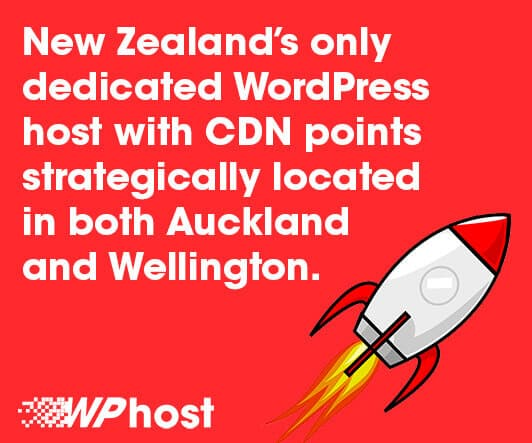 Fastest WordPress hosting with CDN points strategically located in both Auckland and Wellington