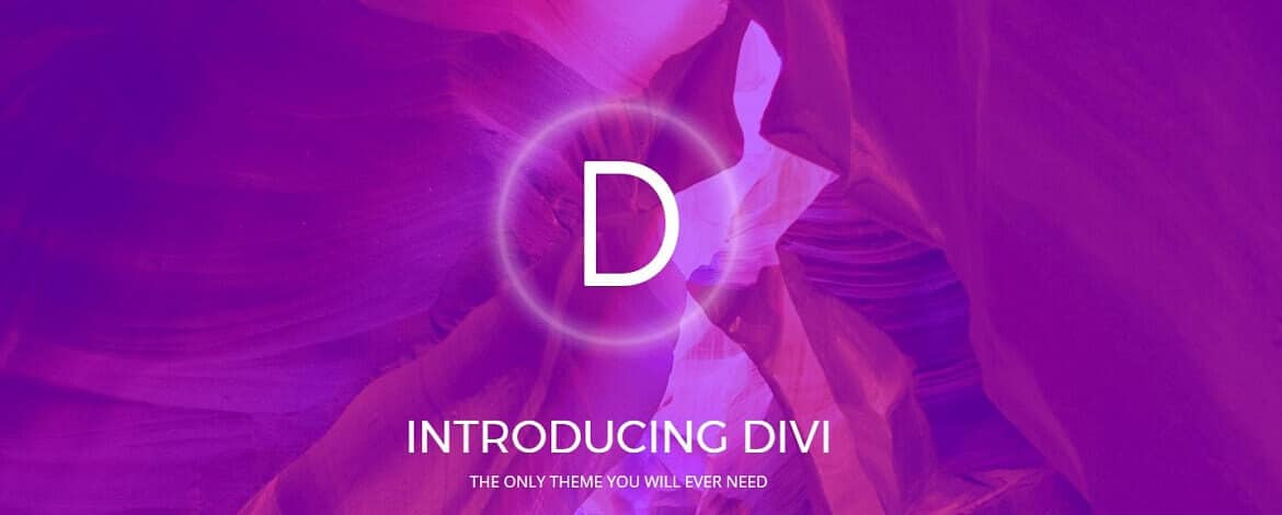 Free Divi Theme by Elegant Themes - the only theme you will ever need