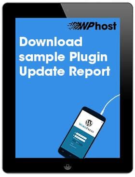 Download sample WordPress Plugin Update report